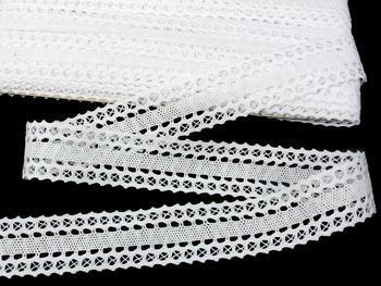 Paličkovaná krajka vzor 75511 bílá | 30 m - 3