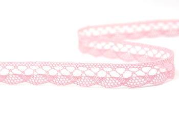 Paličkovaná krajka vzor 75512 růžová | 30 m - 3