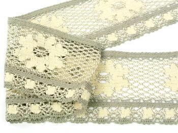 Bobbin lace No. 75533 ecru/dark lien | 30 m - 3