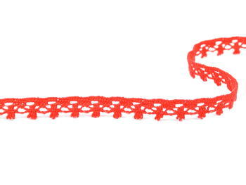 Paličkovaná krajka vzor 75535 červená   30 m - 3