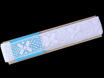 Paličkovaná vsadka vzor 75557 bílá   30 m - 3