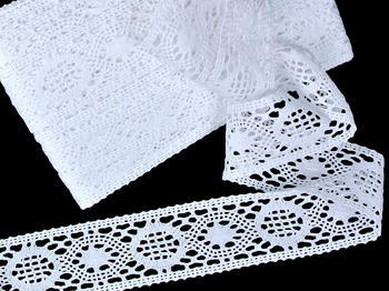 Bobbin lace No. 75572 white | 30 m - 3