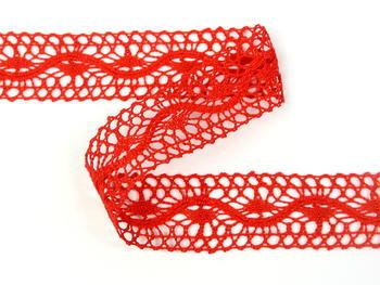 Paličkovaná vsadka vzor 75577 červená | 30 m - 3