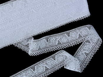Bobbin lace No. 75587 white | 30 m - 3