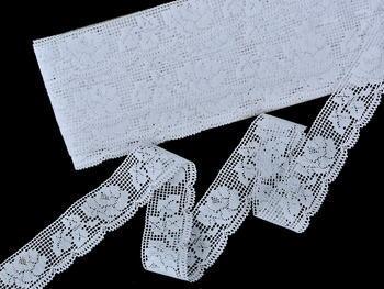 Paličkovaná  krajka vzor 75591 bílá | 30 m - 3