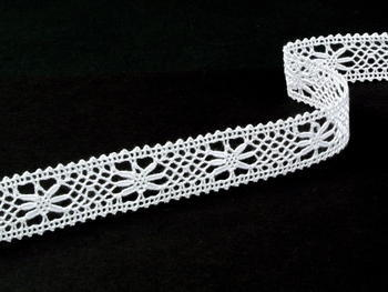 Bobbin lace No. 75620 white | 30 m - 3