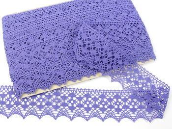 Paličkovaná krajka vzor 75625 purpurová II. | 30 m - 3
