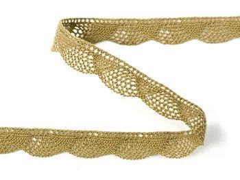Bobbin lace No. 75629 khaki | 30 m - 3