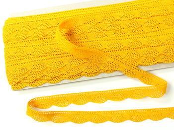 Paličkovaná krajka vzor 75629 tmavě žlutá | 30 m - 3