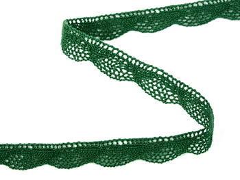 Paličkovaná krajka vzor 75629 tmavě zelená   30 m - 3