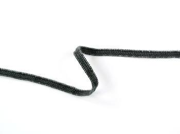 Paličkovaná pruženka roušková 75643 tmavě šedá | 30 m - 3