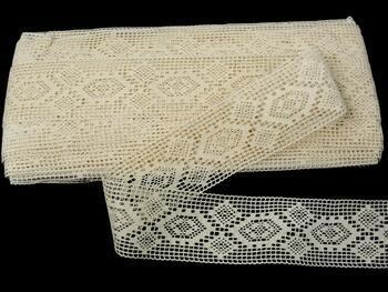 Cotton bobbin lace insert 75166, width40mm, ecru - 3
