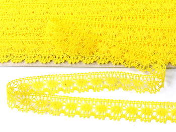 Paličkovaná krajka vzor 81050 žlutá | 30 m - 3