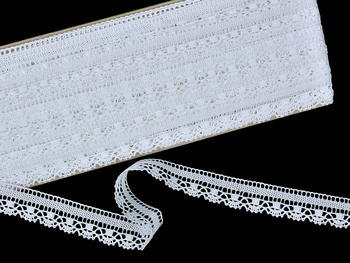 Bobbin lace No. 81217 white | 30 m - 3
