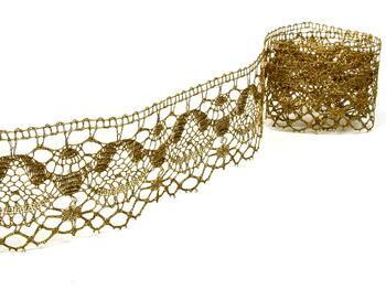 Paličkovaná krajka vzor 81289 zlatá | 30 m - 3