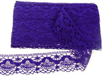 Paličkovaná krajka vzor 81289 purpurová | 30 m - 3