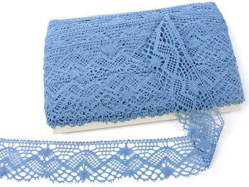 Paličkovaná krajka vzor 81294 blankytně modrá | 30 m - 3