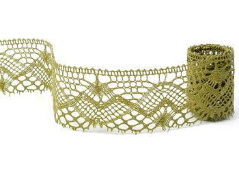 Bobbin lace No. 81294 khaki | 30 m - 3