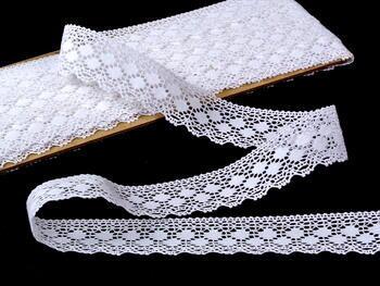 Paličkovaná krajka vzor 81299 bílá | 30 m - 3