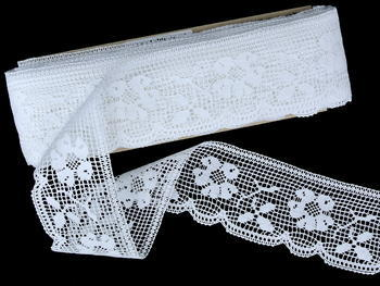 Bobbin lace No. 81326 white | 30 m - 3