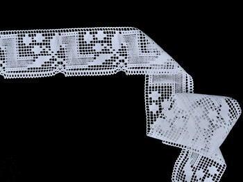 Paličkovaná krajka vzor 81412 bílá | 30 m - 3