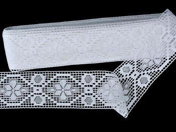 Paličkovaná vsadka vzor 82146 bílá | 30 m - 3