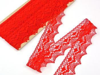 Paličkovaná krajka vzor 82157 červená | 30 m - 3