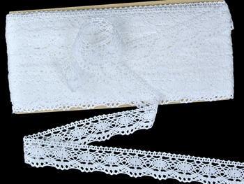 Paličkovaná krajka vzor 82167 bílá | 30 m - 3