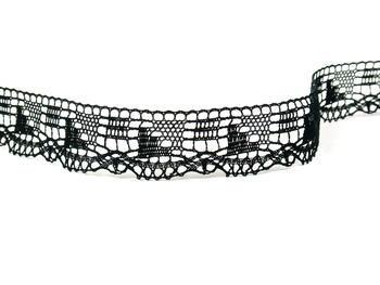 Paličkovaná krajka vzor 82170 černá | 30 m - 3