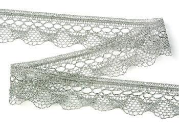 Bobbin lace No. 82216 silver | 30 m - 3