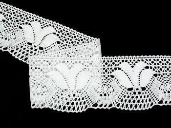 Paličkovaná krajka vzor 82217 bílá | 30 m - 3