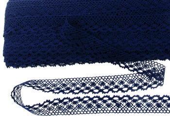 Bobbin lace No. 82222  dark blue | 30 m - 3