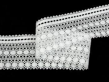 Paličkovaná krajka vzor 82240 bílá | 30 m - 3