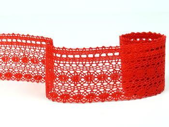 Paličkovaná krajka vzor 82240 červená | 30 m - 3
