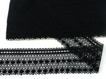 Paličkovaná krajka vzor 82240 černá | 30 m - 3