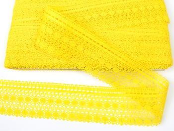 Paličkovaná krajka vzor 82240 žlutá   30 m - 3