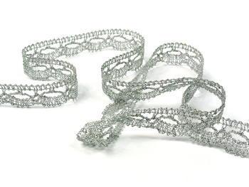 Bobbin lace No. 82307 silver | 30 m - 3