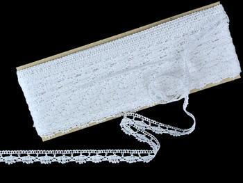 Paličkovaná krajka vzor 82307 bílá | 30 m - 3