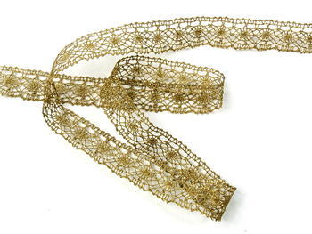 Bobbin lace No. 82308 gold antique | 30 m - 3