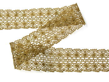 Bobbin lace No.  82309 gold antique | 30 m - 3