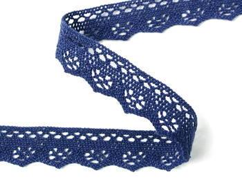 Paličkovaná krajka vzor 82332 modrá | 30 m - 3