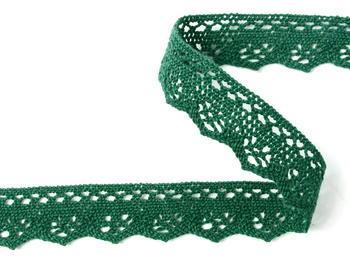 Paličkovaná krajka vzor 82332 zelená | 30 m - 3