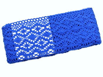 Paličkovaná krajka vzor 82336 královská modrá | 30 m - 3