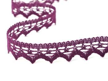 Paličkovaná krajka vzor 82352 fialová | 30 m - 3