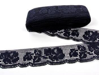 Paličkovaná krajka vzor 88022 černá | 30 m - 3