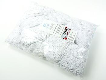 Kreativní balíček - paličkované krajky bílé | 500 g - 4