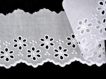 Vyšívaná krajka vzor 65007 bílá | 9,2 m - 4