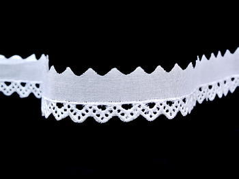 Embroidery lace No. 65088 white | 9,2 m - 4