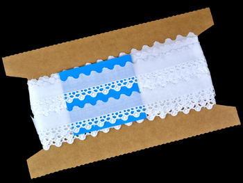Vyšívaná krajka vzor 65090 bílá | 9,2 m - 4