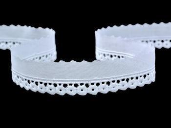 Embroidery lace No. 65097 white | 13,8 m - 4